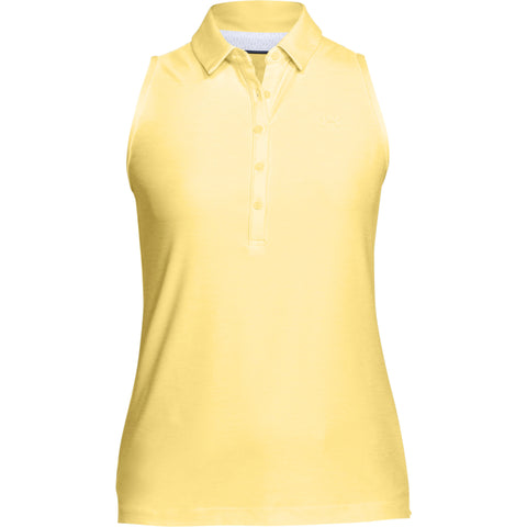 UNDER ARMOUR WOMEN'S ZINGER SLEEVELESS POLO YELLOW