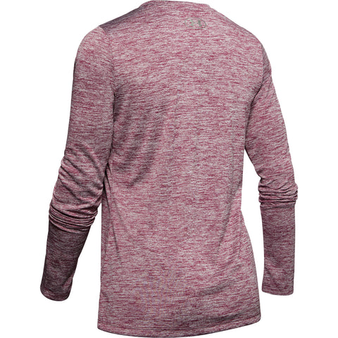 UNDER ARMOUR WOMEN'S TECH LONG SLEEVE CREW TWIST LEVEL PURPLE