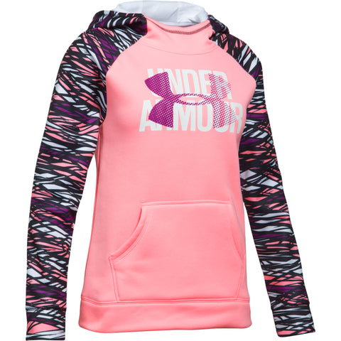 UNDER ARMOUR GIRL'S ARMOUR FLEECE BIG LOGO HOODY PINK