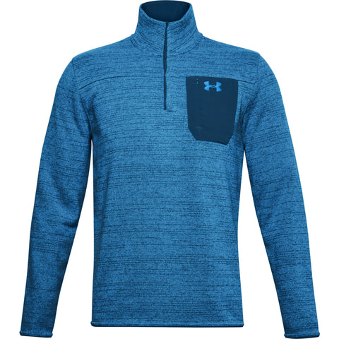 UNDER ARMOUR MEN'S SPECIALIST HENLEY GRAPHITE BLUE