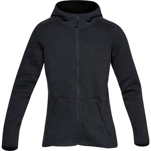 UNDER ARMOUR WOMEN'S WINTERSWEET FULL ZIP BLACK