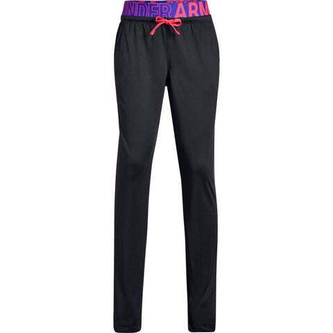 UNDER ARMOUR GIRL'S TECH PANT BLACK