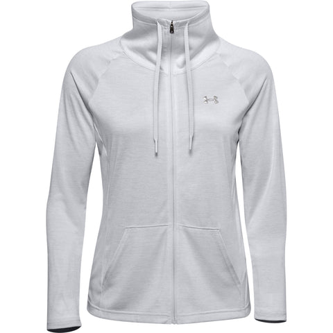 UNDER ARMOUR WOMEN'S TECH TWIST FULL ZIP GREY