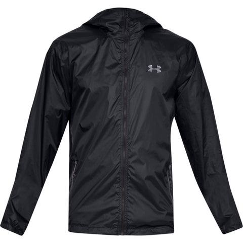 UNDER ARMOUR MEN'S FOREFRONT RAIN JACKET BLACK