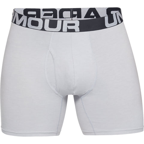 UNDER ARMOUR MEN'S O SERIES 6'' BOXERJOCK 3 PACK MOD GREY MEDIUM HEATHER