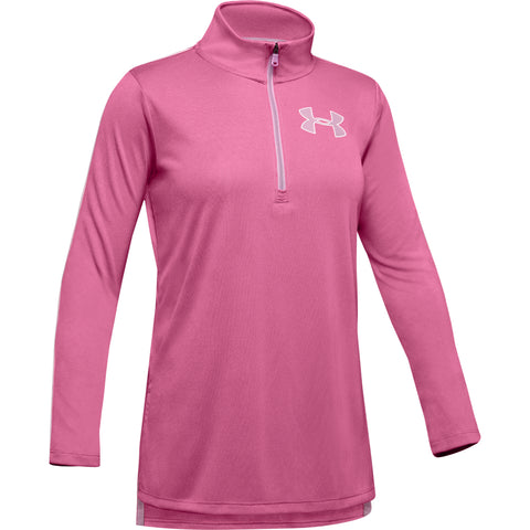 UNDER ARMOUR GIRL'S TECH 1/4 ZIP PACE PINK