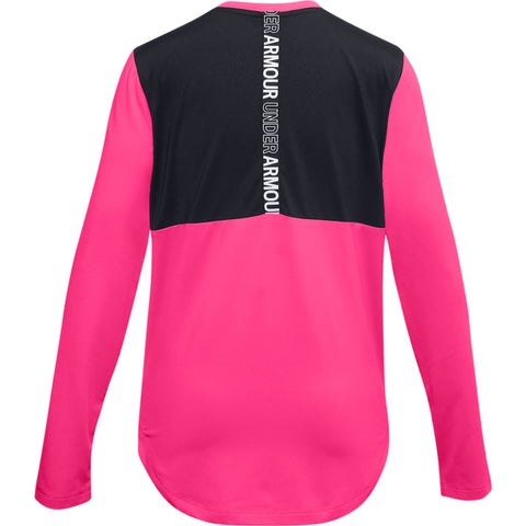 UNDER ARMOUR GIRLS ARMOUR LONG SLEEVE PINK
