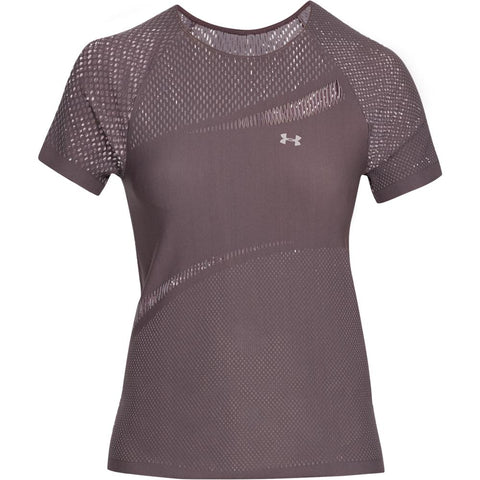 UNDER ARMOUR WOMEN'S WARRIOR KNIT SHORT SLEEVE GREY
