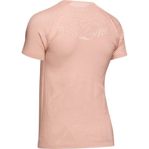 UNDER ARMOUR WOMEN'S WARRIOR KNIT SHORT SLEEVE ORANGE