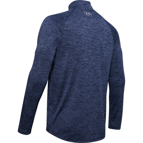 UNDER ARMOUR MEN'S TECH 2.0 1/2 ZIP TOP BLUE INK/MOD GREY
