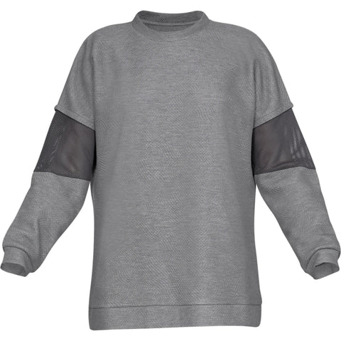 UNDER ARMOUR WOMEN'S UNSTOPPABLE MOVE LIGHT TUNIC CREW GREY
