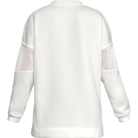 UNDER ARMOUR WOMEN'S UNSTOPPABLE MOVE LIGHT TUNIC CREW WHITE