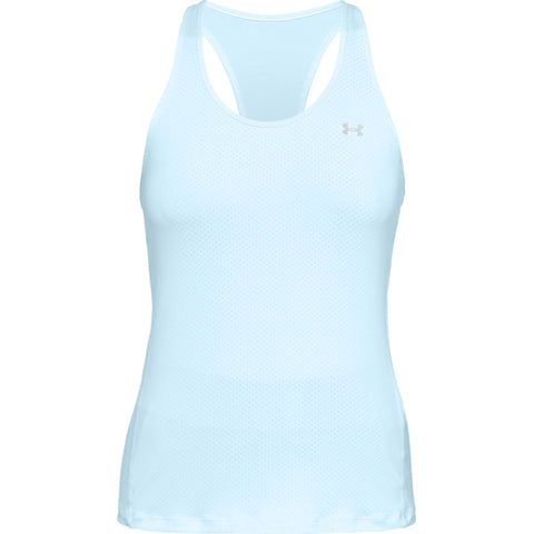 UNDER ARMOUR WOMEN'S HEAT GEAR ARMOUR RACER TANK CODED BLUE