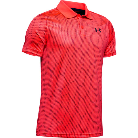 UNDER ARMOUR BOY'S PERFORMANCE POLO 2.0 NOVELTY BETA