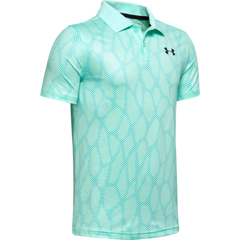UNDER ARMOUR BOY'S PERFORMANCE POLO 2.0 NOVELTY AQUA FLOAT
