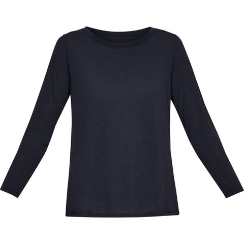 UNDER ARMOUR WOMEN'S WHISPERLIGHT LONG SLEEVE BLACK