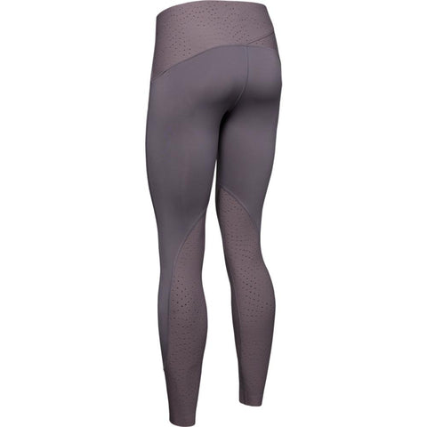 UNDER ARMOUR WOMEN'S  QUALIFIER SPEEDPOCKET COLD GEAR TIGHT FLINT GREY