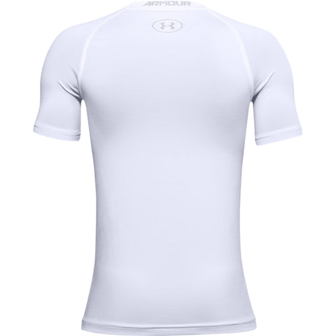UNDER ARMOUR BOY'S ARMOUR SHORT SLEEVE TOP WHITE
