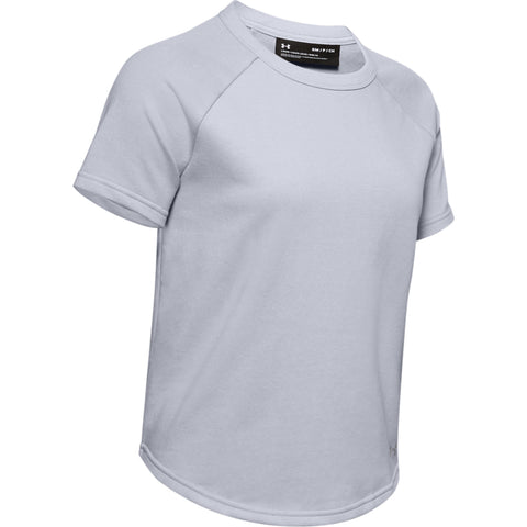 UNDER ARMOUR WOMEN'S TERRY SHORT SLEEVE GREY