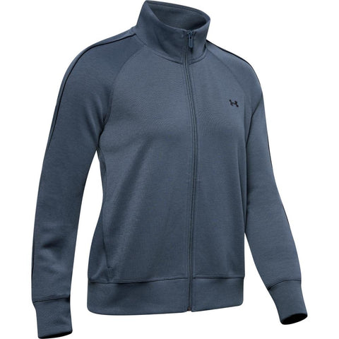 UNDER ARMOUR WOMEN'S DOUBLE KNIT TRACK JACKET GREY