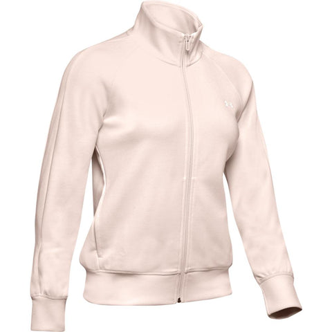 UNDER ARMOUR WOMEN'S DOUBLE KNIT TRACK JACKET PINK