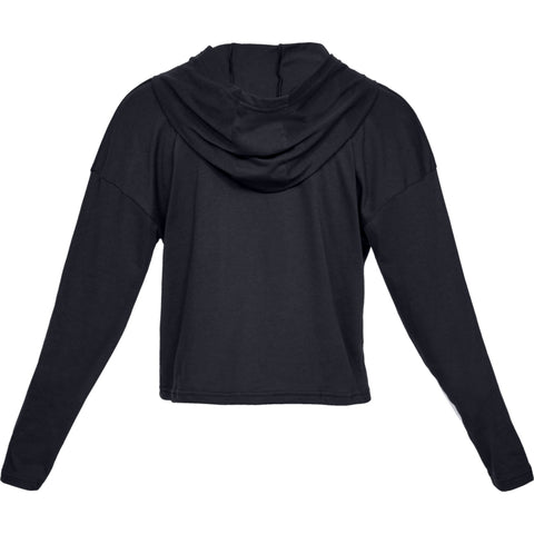 UNDER ARMOUR WOMEN'S TAPED CROP HOODY BLACK