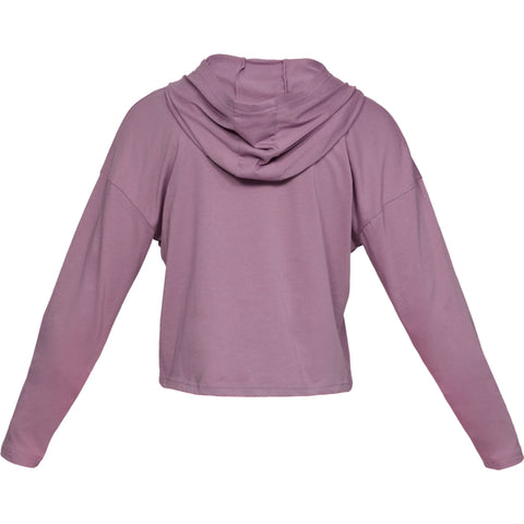 UNDER ARMOUR WOMEN'S TAPED CROP HOODY PURPLE