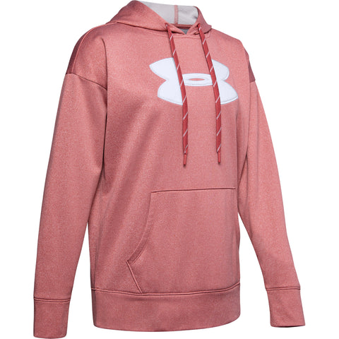 UNDER ARMOUR WOMEN'S SYNTHETIC FLEECE CHENILLE LOGO FRACTAL PINK