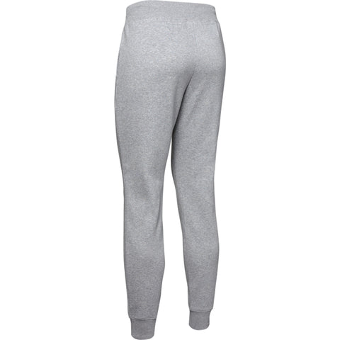 UNDER ARMOUR WOMEN'S RIVAL FLEECE SPORTSTYLE GRAPHIC PANT STEEL