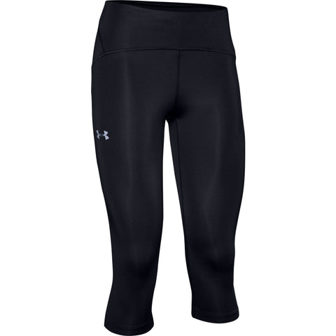 UNDER ARMOUR WOMEN'S ARMOUR FLY FAST CAPRI BLACK