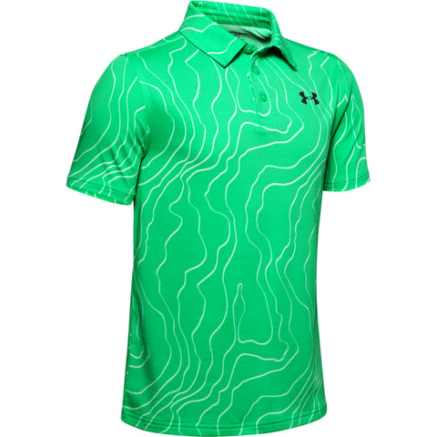 UNDER ARMOUR BOYS PLAYOFF POLO VAPOR GREEN