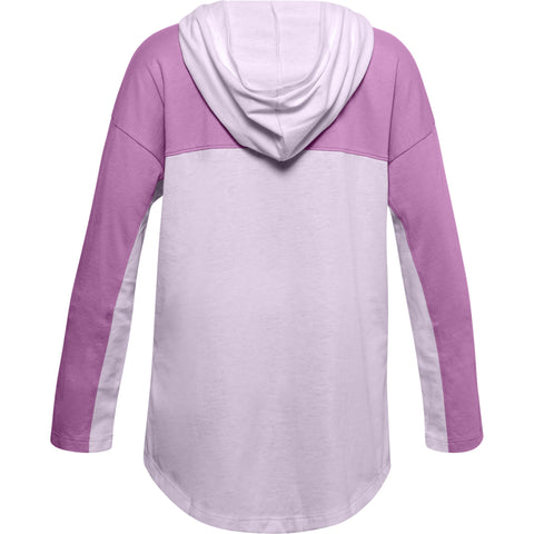 UNDER ARMOUR GIRLS FAVORITES JERSEY HOODIE PURPLE