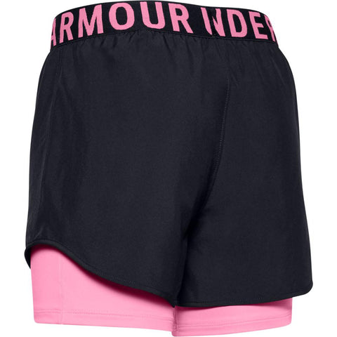UNDER ARMOUR GIRL'S HEAT GEAR ARMOUR 2IN1 SHORT BLACK/ LIPSTICK