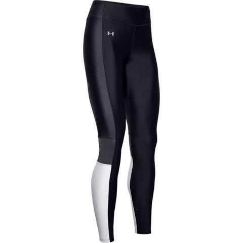 UNDER ARMOUR WOMEN'S HEAT GEAR ARMOUR PERFORATION INSET LEGGING BLACK/ HALO