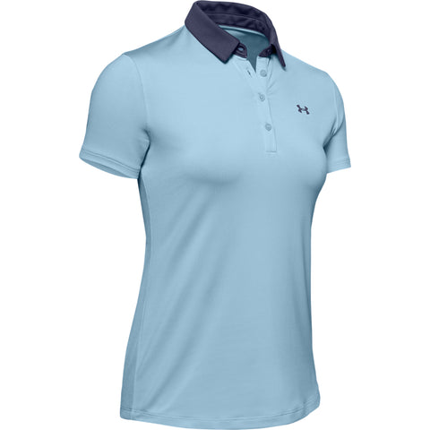 UNDER ARMOUR WOMEN'S ZINGER SHORT SLEEVE POLO BLUE FROST