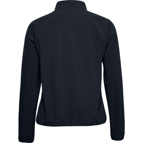 UNDER ARMOUR WOMEN'S WOVEN 1/4 ZIP CREW JACKET BLACK