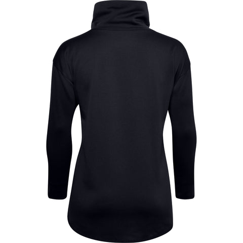 UNDER ARMOUR WOMEN'S ARMOUR FLEECE FUNNEL NECK BLACK