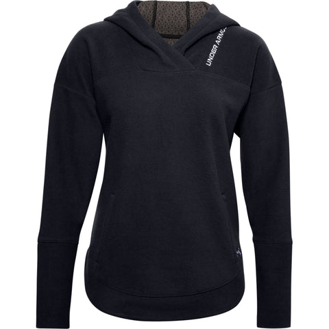 UNDER ARMOUR WOMEN'S RECOVER FLEECE HOODY BLACK