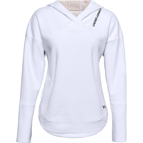 UNDER ARMOUR WOMEN'S RECOVER FLEECE HOODY WHITE