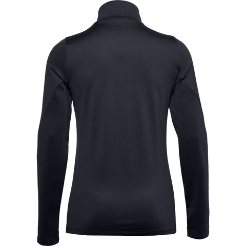 UNDER ARMOUR WOMEN'S AUTHENTICS COLDGEAR 1/2  ZIP BLACK