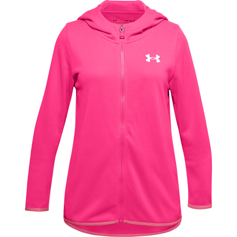 UNDER ARMOUR GIRLS ARMOUR FLEECE HOODIE PINK