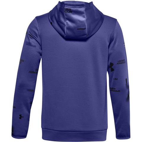 UNDER ARMOUR BOYS ARMOUR FLEECE HOODIE BLUE
