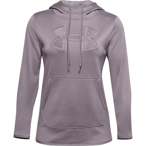UNDER ARMOUR WOMEN'S ARMOUR FLEEBE BIG LOGO CHENILLE HOODY SLATE PURPLE