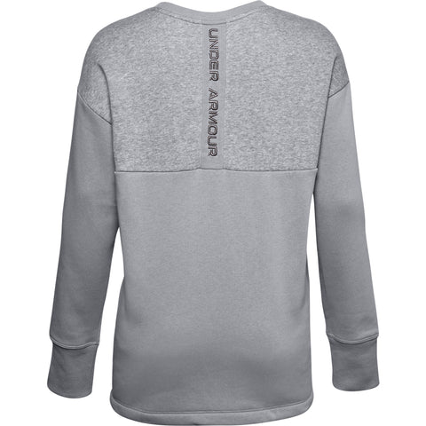 UNDER ARMOUR W UA RIVAL FLEECE EMB CREW GRY
