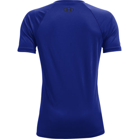 UNDER ARMOUR BOY'S TECH BIG LOGO SHORT SLEEVE ROYAL