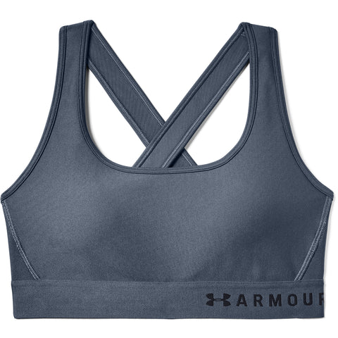 UNDER ARMOUR WOMEN'S ARMOUR MID CROSSBACK BRA DOWNPOUR