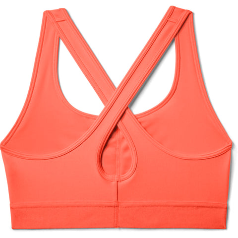 UNDER ARMOUR WOMEN'S ARMOUR MID CROSSBACK BRA PEACH PLASMA