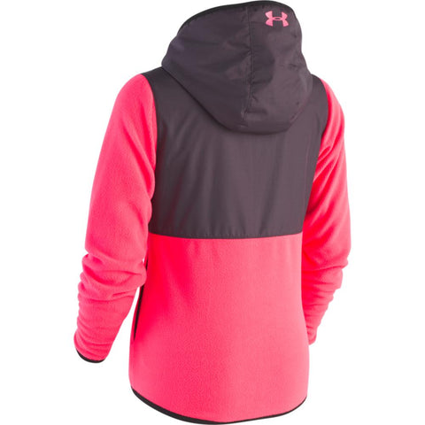 UNDER ARMOUR GIRL'S CANYON RIM MICROFLEECE JACKET PENTA PINK