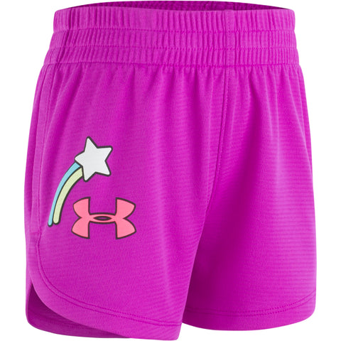 UNDER ARMOUR GIRL'S 4-6X SHOOTING STAR SHORT PURPLE