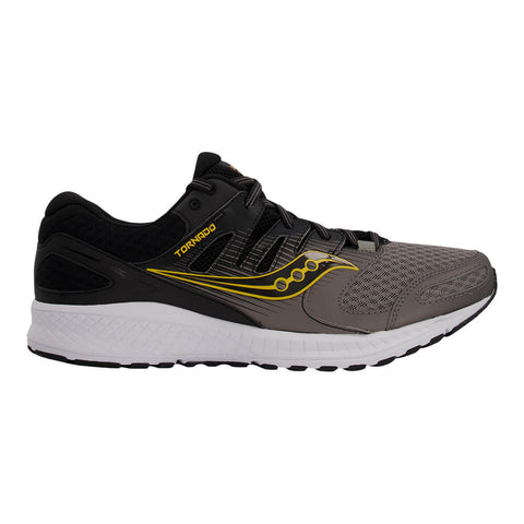 SAUCONY MEN'S TORNADO 2 RUNNING SHOE BLACK/GREY/GOLD